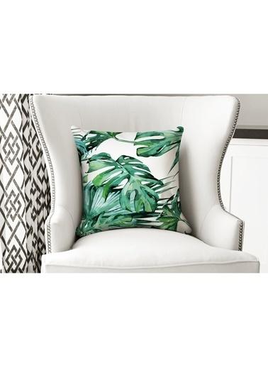Lyn Home & Decor Geniş Yapraklar Yastık Kılıfı Renkli